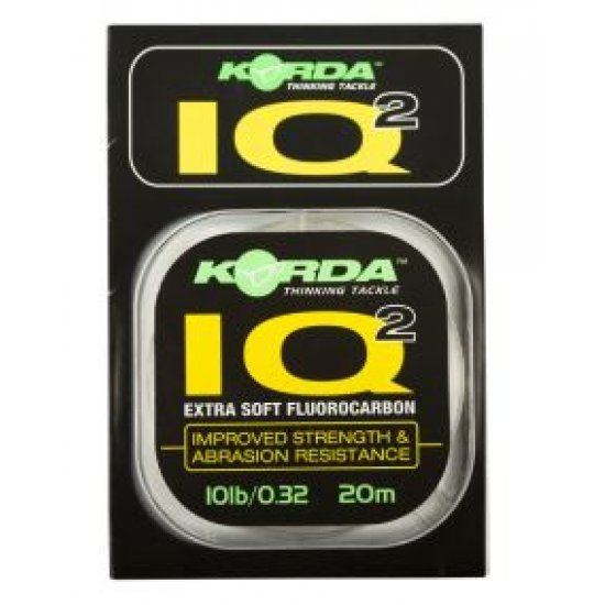 KORDA IQ2 FLUOROCARBON HOOK LINK 20m 10lb 12lb 15lb EXTRA SOFT STRENGTH ABRASION