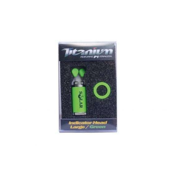 Solar Titanium Indicator Head Large Green