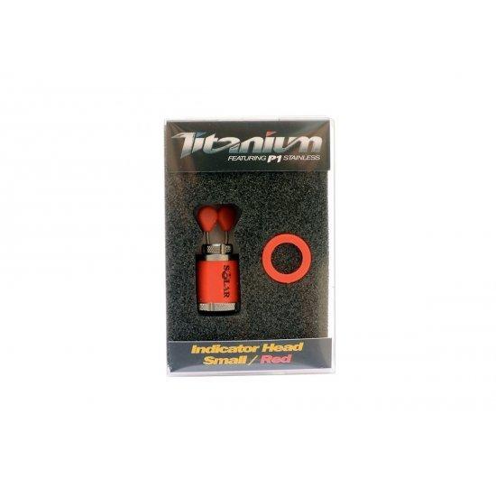 Solar Titanium Indicator Head Small Red
