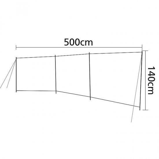 Season 5x1.4 meters Bo-Camp Windscreen 3-Sections